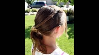 Triple-Twistback Side Ponytail   Cute Girls Hairstyles