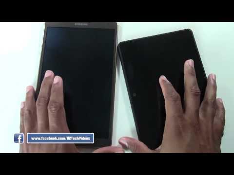 Galaxy Tab S 8.4 vs Kindle Fire HDX (Size Comparison)   H2TechVideos