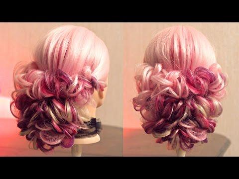 Свадебная причёска из кос на резинках - Hairstyles by REM