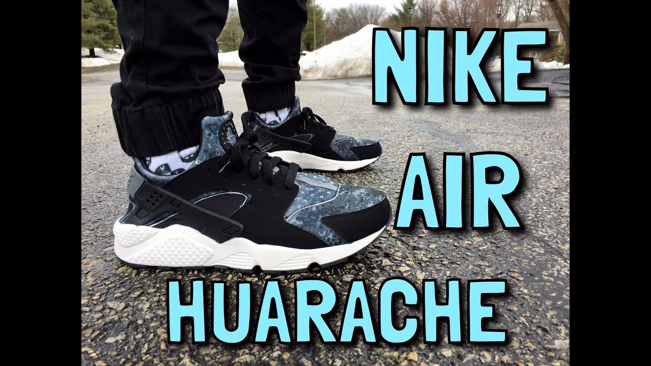 Nike Air Huaraches On Feet