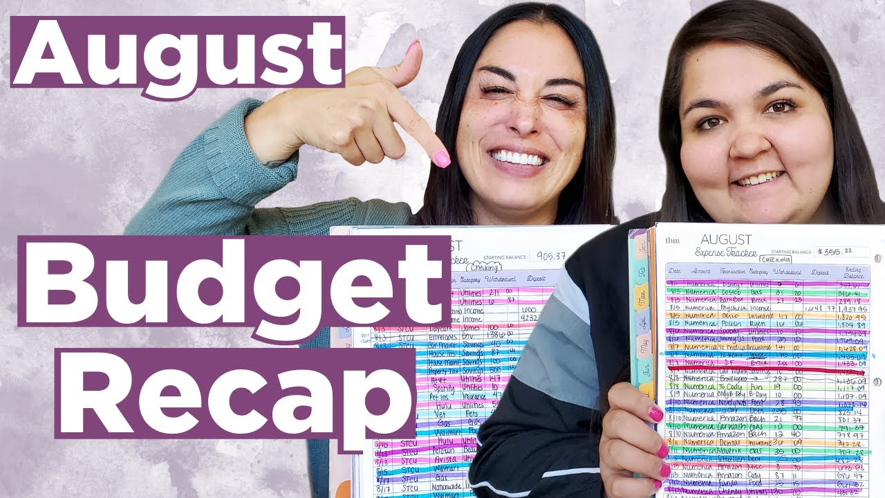 August 2020 Paycheck Budget Recap | Budget Tips + Expense Tracker