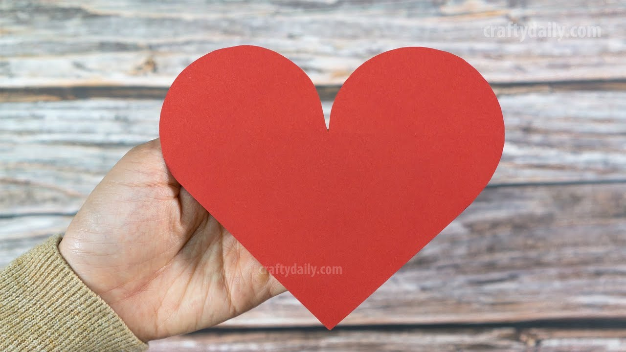 How To Make A Perfect Paper Heart Paper Craft Ideas Youtube