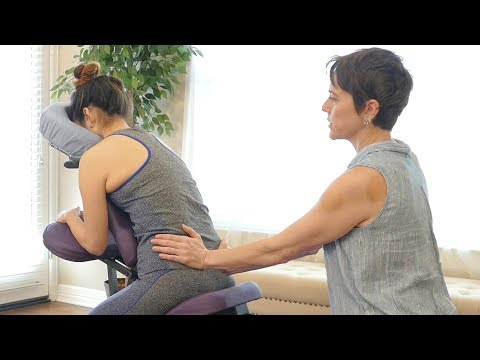 How to Relieve Low Back & Hip Pain with Chair Massage, Tutorial for Legs & Glutes | Jade Nelson