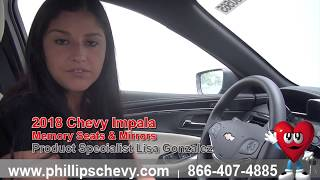 Phillips Chevrolet - 2018 Chevy Impala - Memory Seats & Mirrors - Chicago New Car Dealership