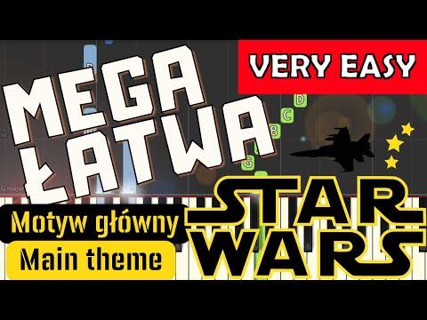 🎹 Star Wars (motyw główny) - Piano Tutorial (MEGA ŁATWA wersja) (VERY EASY) 🎹