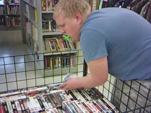VHS DVD CDS Tapes & Records Section at My Local Goodwill