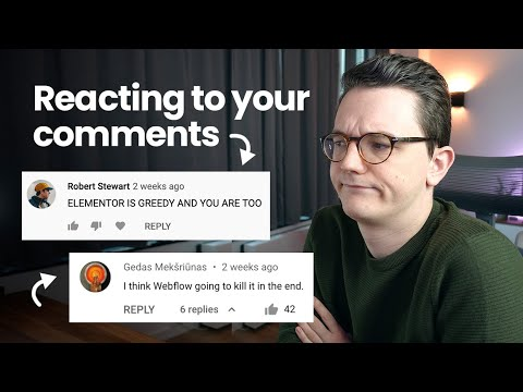 Is Elementor Greedy? REACTING to Your Comments About Elementor's Price increase!