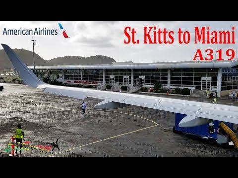 St  Kitts to Miami on American Airlines A319....Early Morning Flight !!!!