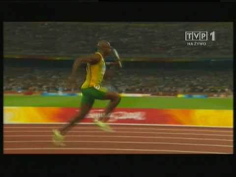 WR 4x100m 37.10 Relay Men - slow motion [HQ]
