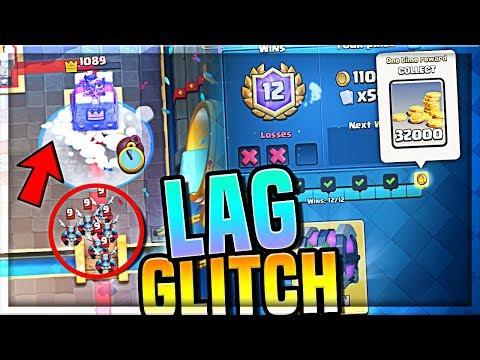 INSANE Lag Glitch!! (12 WINS) Clash Royale Sudden Death Challenge