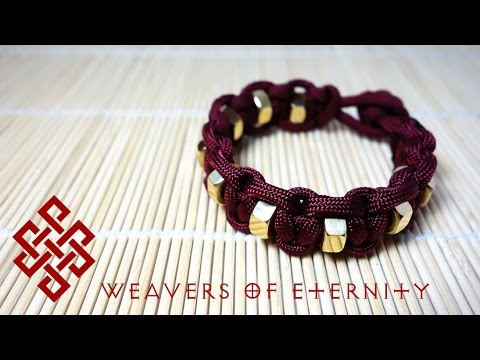 How To Tie A Hex Nut Paracord Bracelet Tutorial YouTube Fascinating Paracord Bracelet Patterns
