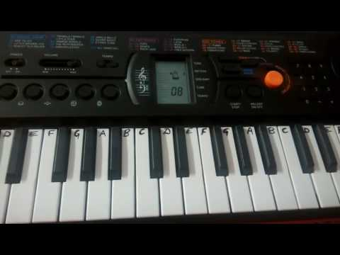 Chanda Ne Poocha Taaro se on Keyboard Piano ~ papa mere papa  (keyboard Tutorial)