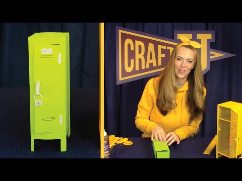 How to Make a Locker   cut and paste paper craft ideas for kids
