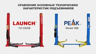 Подъёмники автомобильные двухстоечные обзор Peak 208 против Launch tlt 235sb