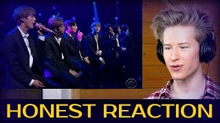 HONEST REACTION to BTS Performs 'Make It Right' (The Late Show with Stephen Colbert)