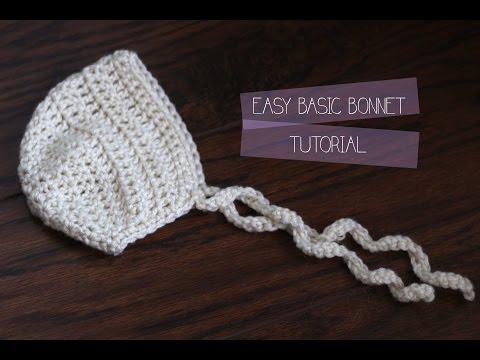 crochet Tutorial - Easy newborn baby bonnet