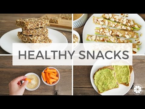 4 Healthy Snack Ideas | Easy, Quick, Gluten-Free, Vegan, Kid Friendly | Healthy Grocery Girl