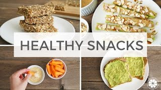 4 Healthy Snack Ideas | Easy, Quick, Gluten-Free, Vegan, Kid Friendly | Healthy Grocery Girl