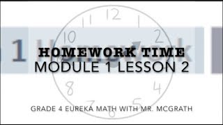 Eureka Math Homework Time Grade 4 Module 1 Lesson 2
