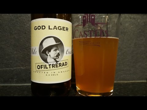 Nils Oscar God Lager Ofiltrerad Lager | Swedish Craft Beer Review