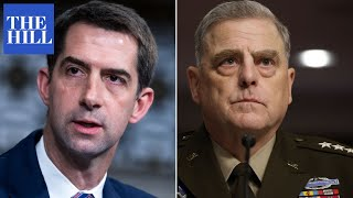 'Why haven't you resigned?' Tom Cotton grills Gen. Milley on Afghanistan