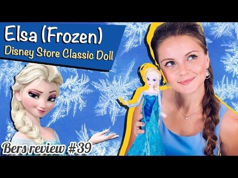 Frozen Elsa Disney Store Classic Doll (Кукла Эльза Холодное сердце) Обзор на Русском языке