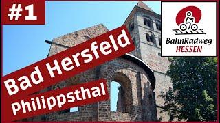 Radtour🚲🚲BahnRadweg Hessen von Bad Hersfeld über Schenklengsfeld bis Philippsthal (Werra)