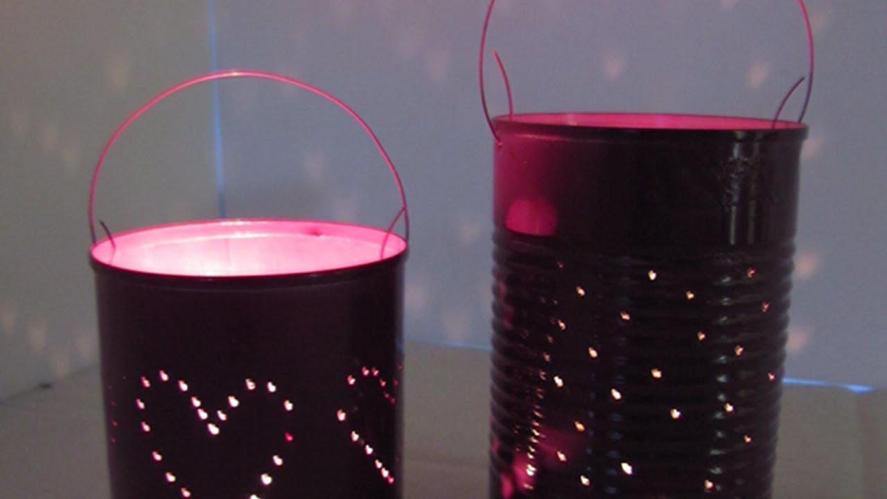 Lampada Barattolo Di Latta : Crea delle belle lanterne con i barattoli di latta fai da te casa