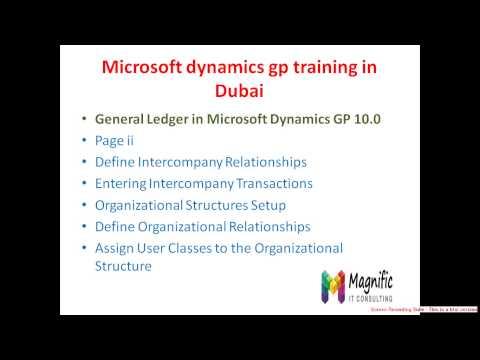 Microsoft Dynamics GP training in Dubai