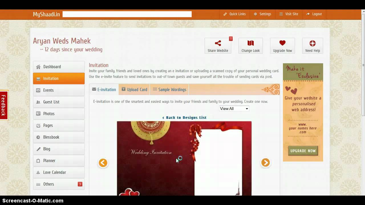 How to create e invitation for your wedding websitemp4 YouTube
