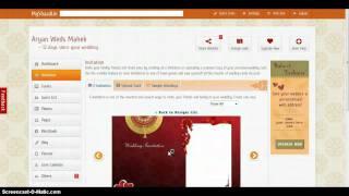 Wie das erstellen von e-Einladung für Ihre Hochzeit-website.mp4