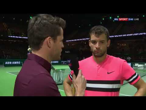 Grigor Dimitrov - on court interview after beating Filip Kra