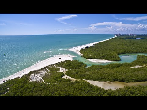 4K Aerial Video Tour of Clam Pass Park - Naples, FL