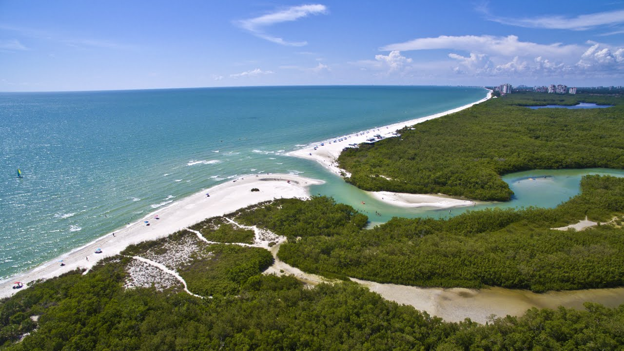 K Aerial Video Tour Of Clam Pass Park Naples FL YouTube - Florida naples