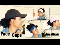 Face caps On Natural Hair/ different ways to wear caps/ types of face caps On Natural Hair
