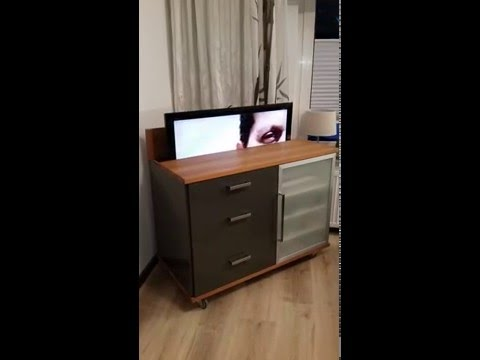 tv schrank mit lift fantastisch youtube. Black Bedroom Furniture Sets. Home Design Ideas