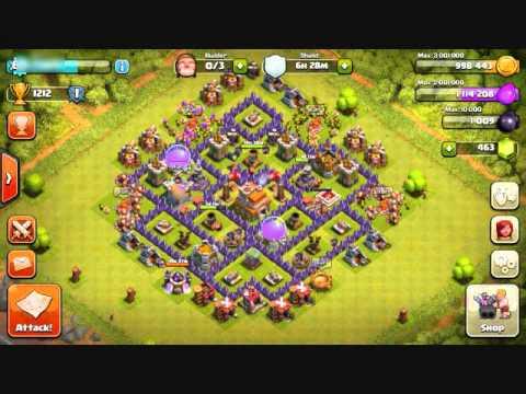 Pertahanan Coc Base Th 7 Terkuat 7