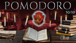 GRYFFINDOR 📚 POMODORO Study Session 50/10 - Harry Potter Ambience 📚 Focus, Relax & Study in Hogwarts