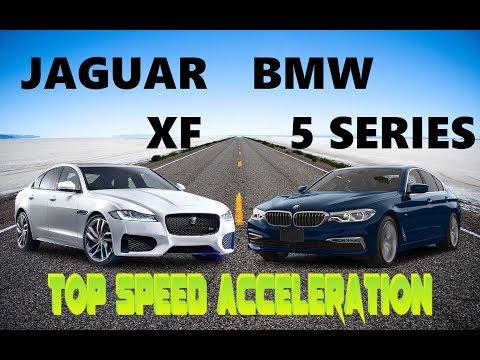 Jaguar XF Vs BMW 520d Top Speed Acceleration Test | 0-100 0-200 0-top | DriveIndia