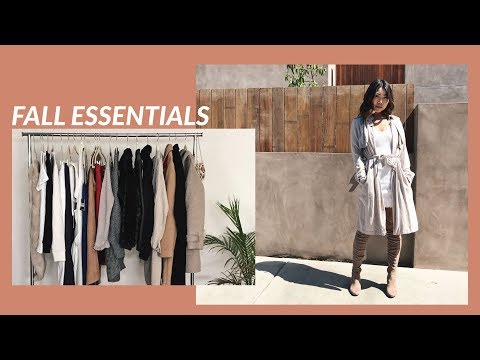 FALL ESSENTIALS 2017 | 7 Must-Have Items to Build Your Fall Wardrobe | JULIA SUH