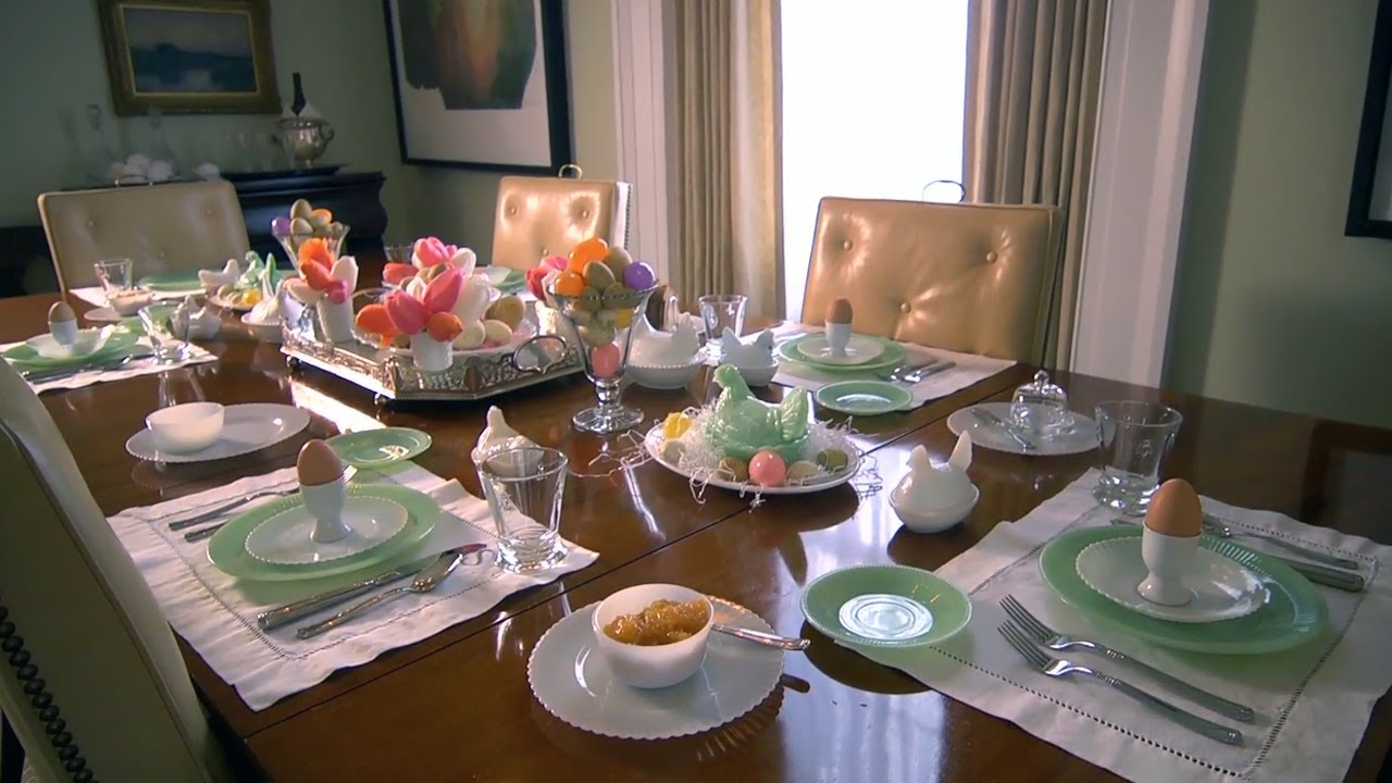 & Easter Table Setting | At Home With P. Allen Smith - YouTube