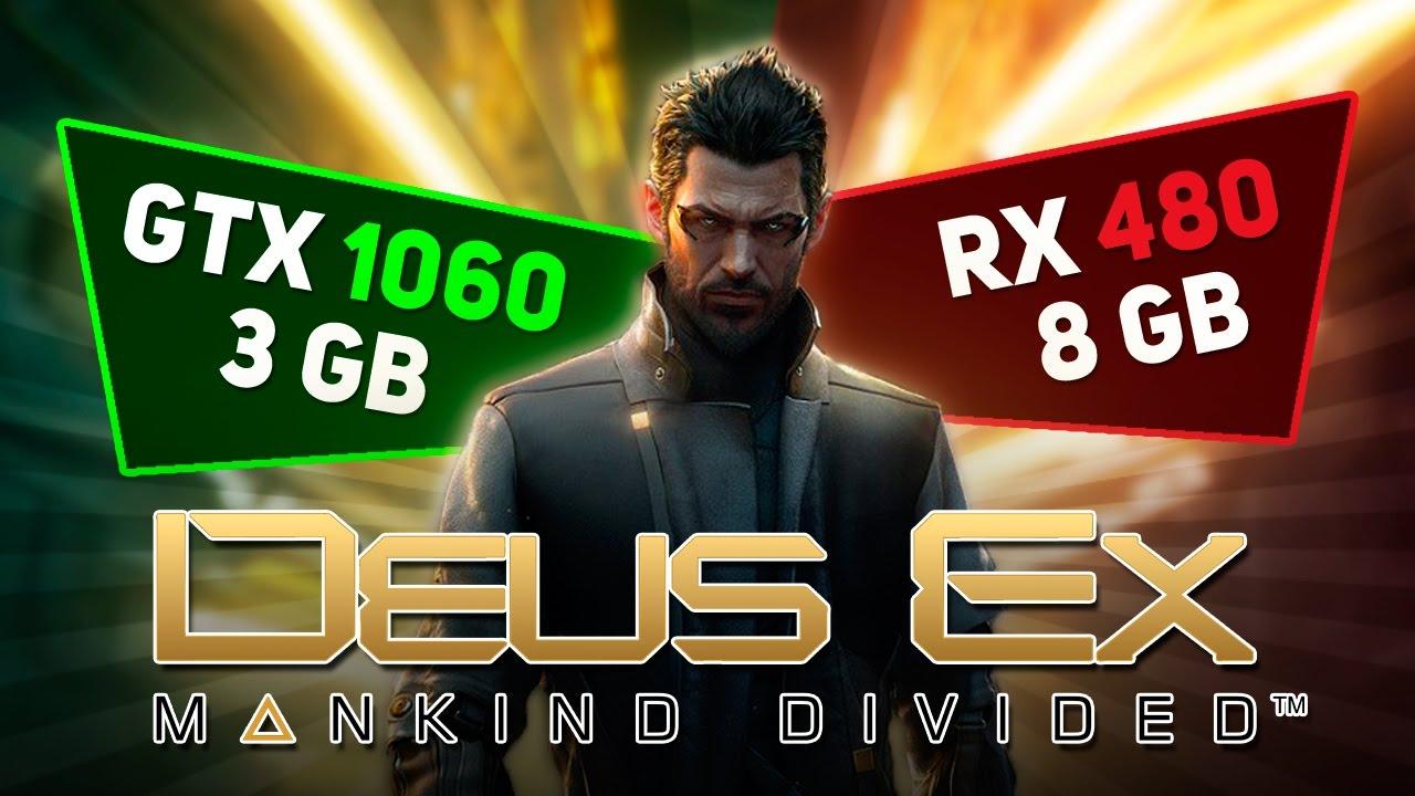 GTX 1060 3Gb против RX 480 8Gb в игре Deus Ex: Mankind Divided