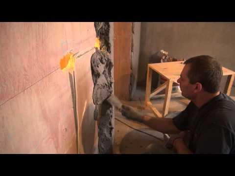 видео: Ремонт. штукатурка стены с перепадом в уровне по вертикали от 10 см вверху до 8 см внизу