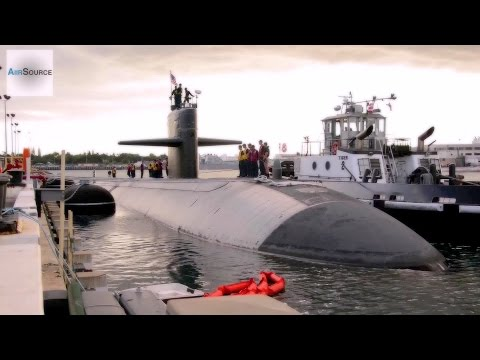 Submarine USS La Jolla (SSN-701) Departure From Pearl Harbor For The Last Time