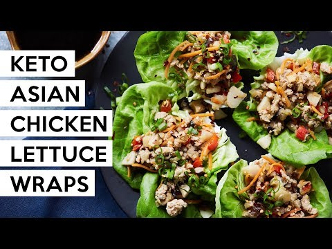 Keto Asian Chicken Lettuce Wraps #Paleo #Whole30 #Keto