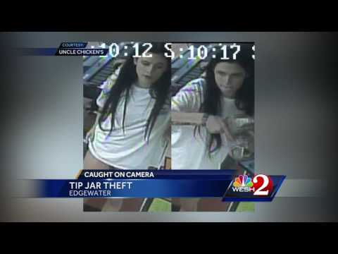 Caught on camera: Woman steals tip jar in Edgewater