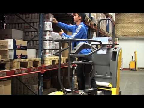 Atlet Tempo PPD - Low-level order picker with driver lift