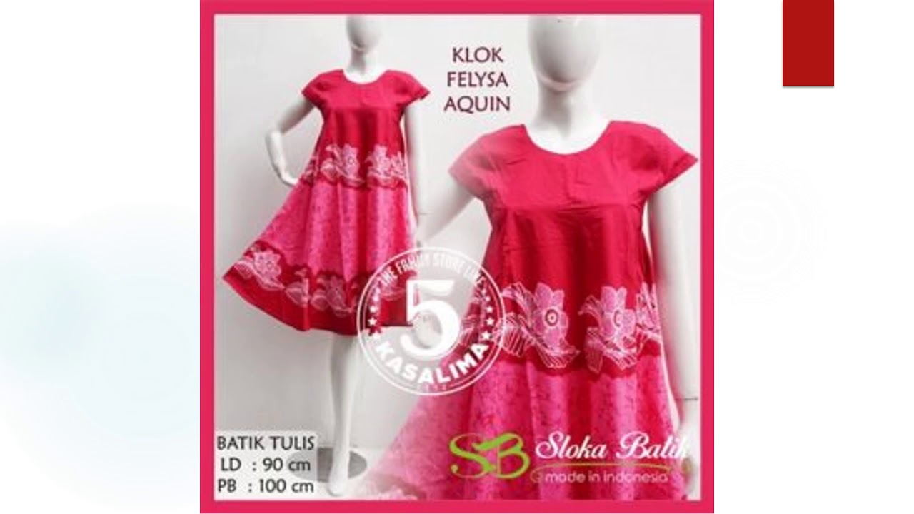 Model daster lucu sloka batik klok felysa aquin wa sms 081318452173