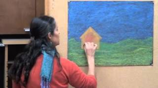 Gail Lescher - Advanced Chalkboard Drawings - Part 1 - House and Landscape