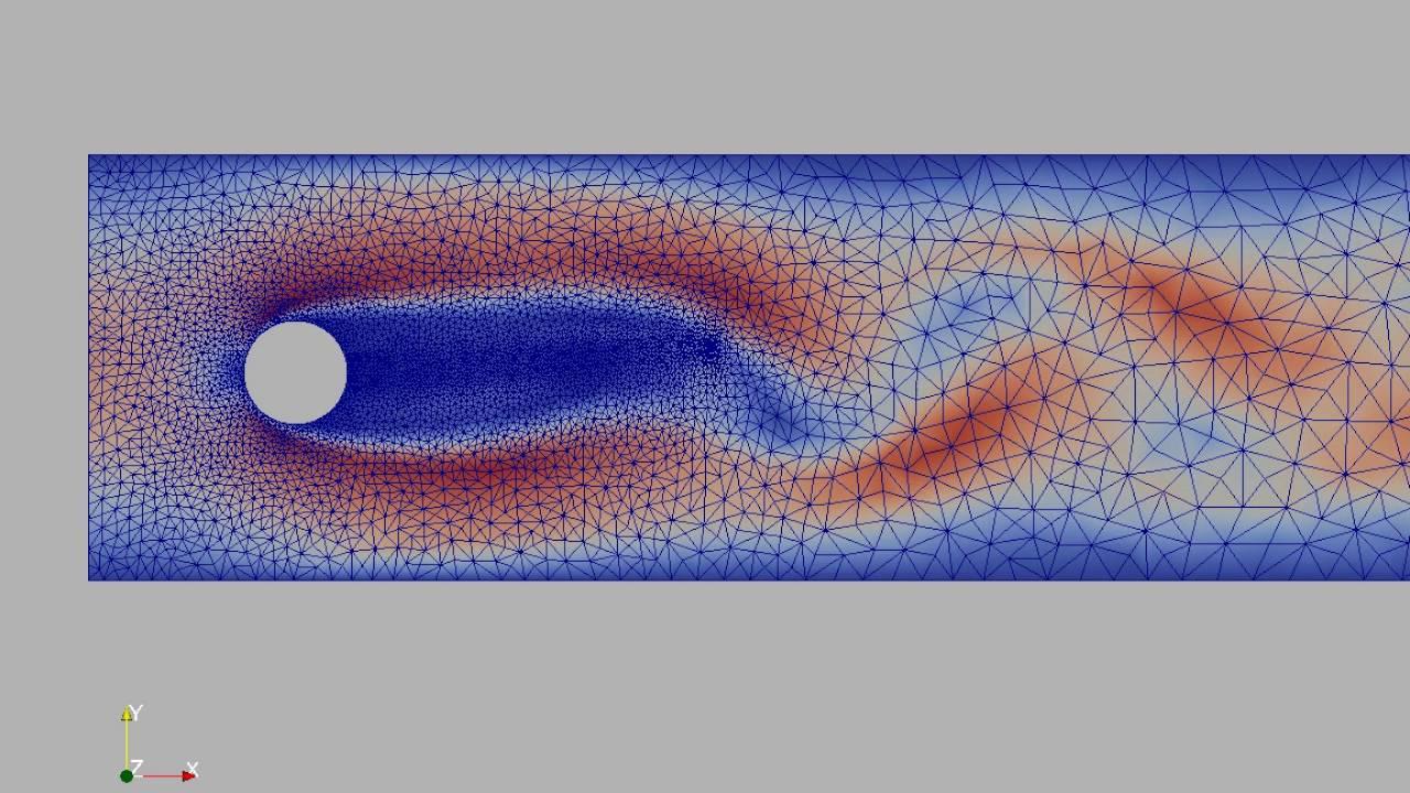Fluid-Structure Interaction in FEniCS by Vegard Vinje